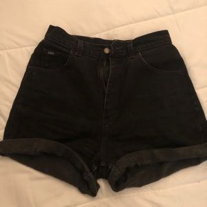 Vintage Lee's black denim shorts